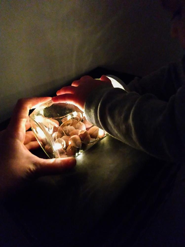 DIY αισθητηριακό βάζο , γεμάτο με το φως των γιορτών!